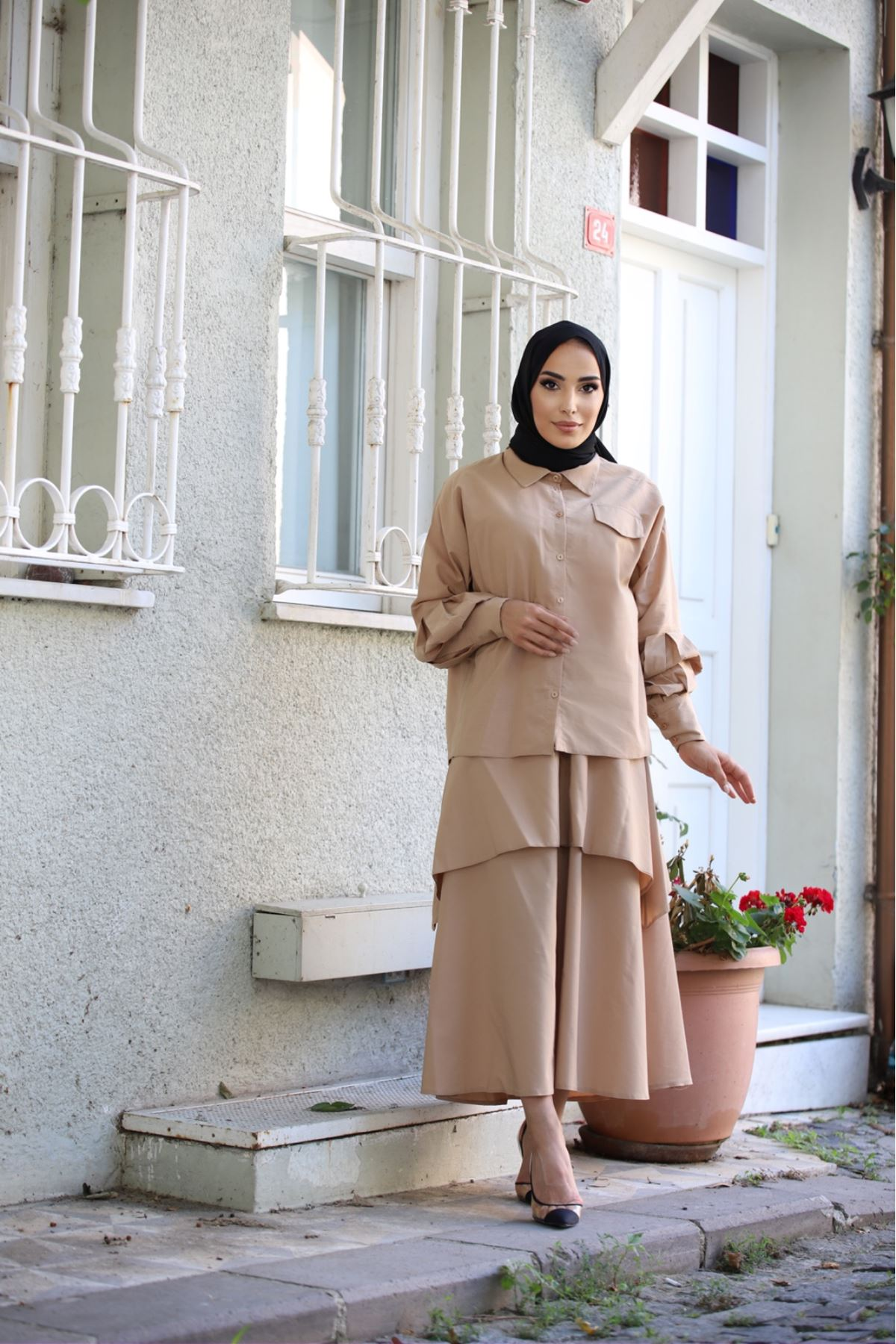 Takım elbise  - Krem