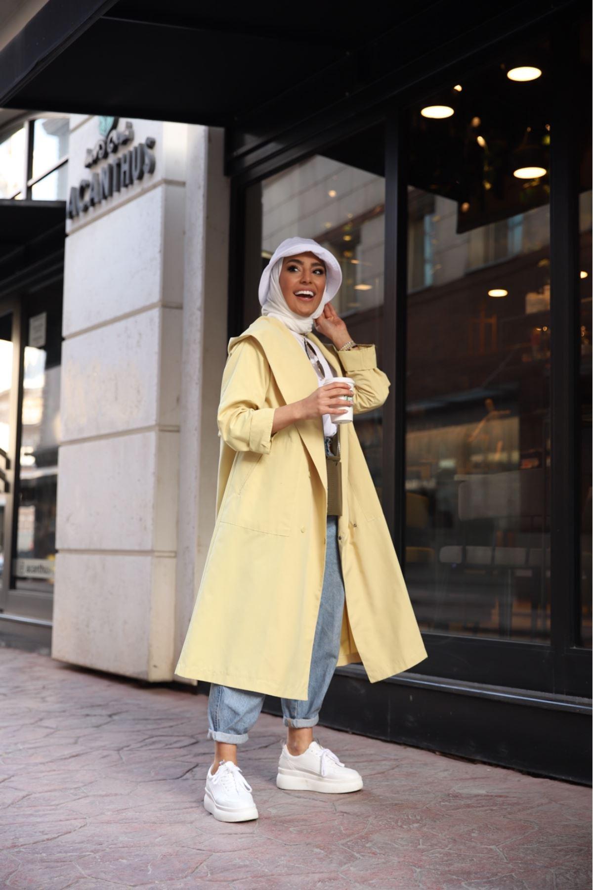 Lina yağmurluk - Sarı