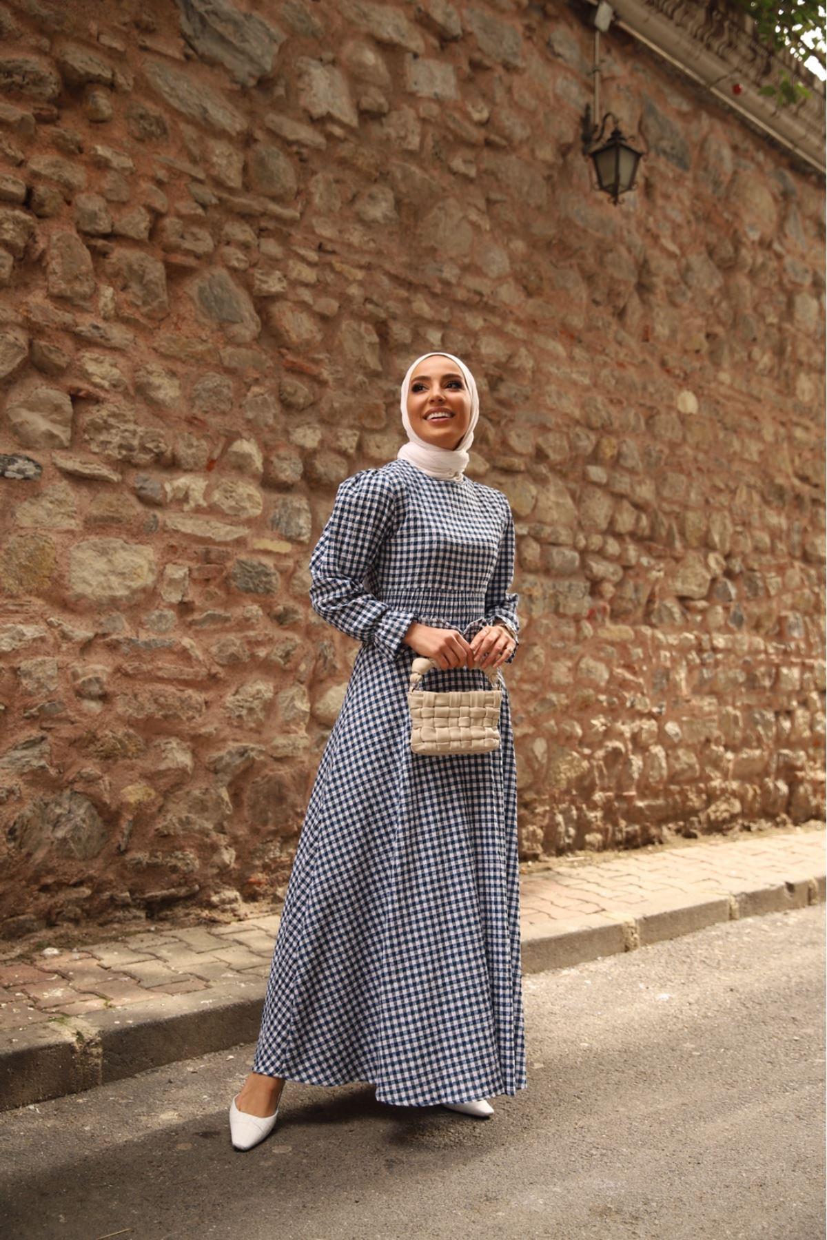 Pötikare bel detaylı elbise - Laci
