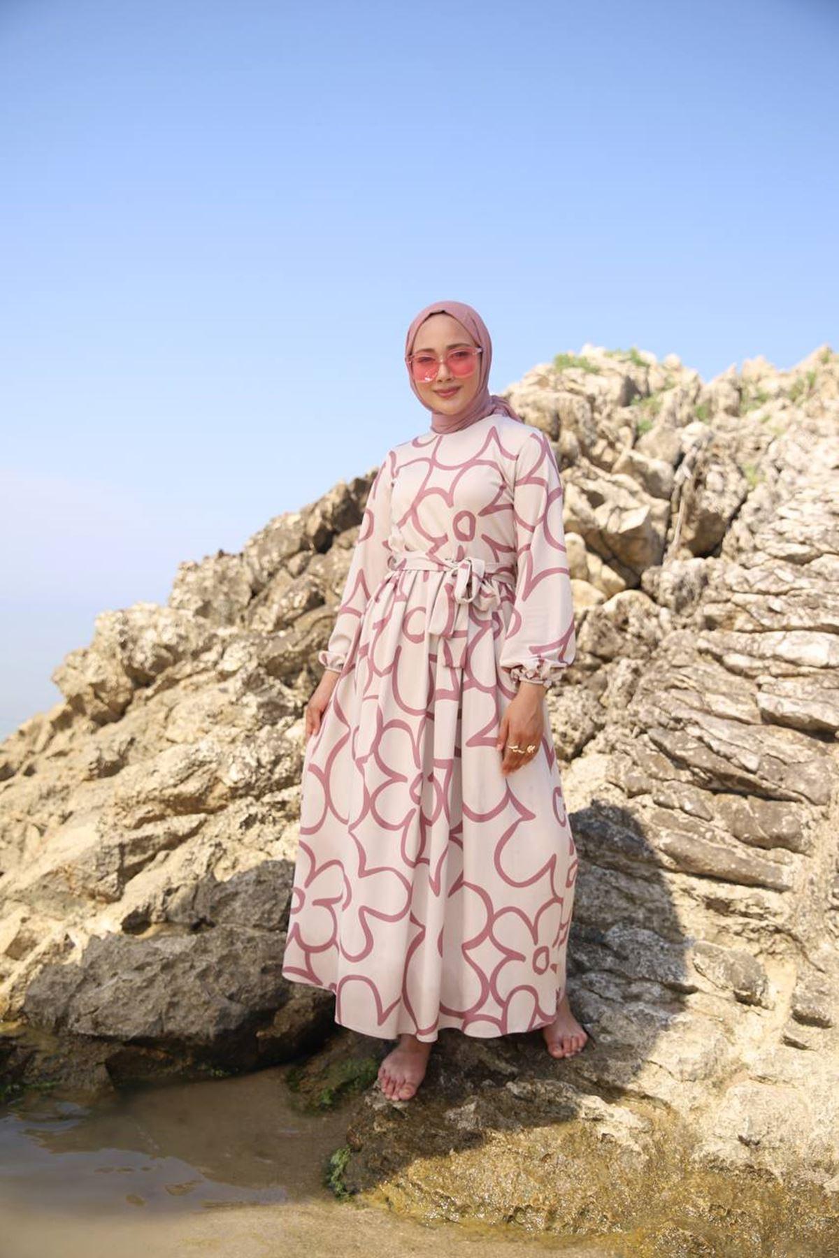 Papatya elbise - pembe