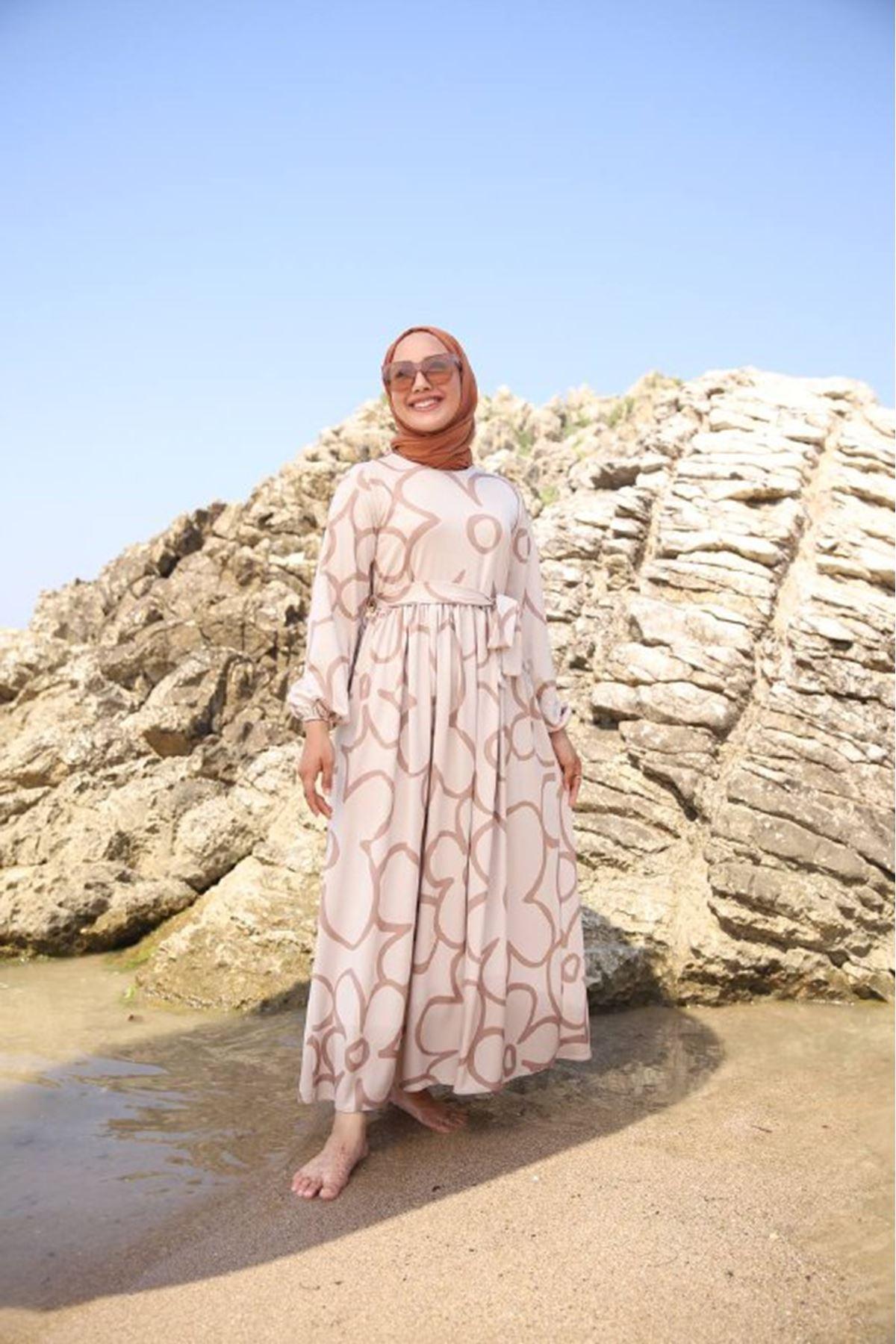 Papatya elbise - vizon